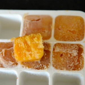 Bellini sorbet cubes