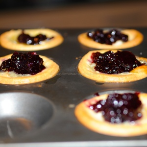 Blueberry, goatscheese bouchees