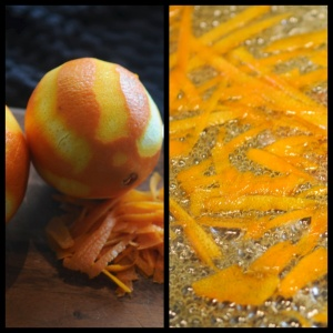 Zest of orange syrup