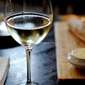 white wine in glass