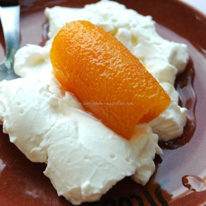 cretian yoghurt with preserved orange peel