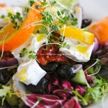 Goat cheese salad with citrus dressing
