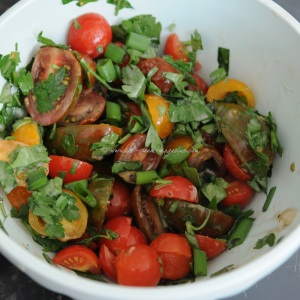 hertiage tomato and parsley salald