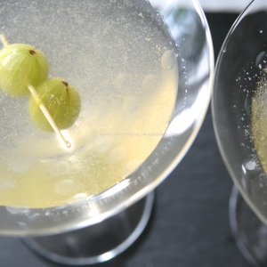 gooseberry & elderflower gin martini © www.ice-cream-magazine.com