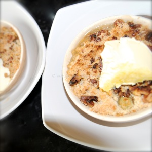 gooseberry elderflower crumble clotted cream
