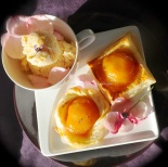 peaches in fragrant rose syrup© www.ice-cream-magazine.com