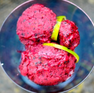 blueberry, lime  vodka sorbet © www.ice-cream-magazine.com