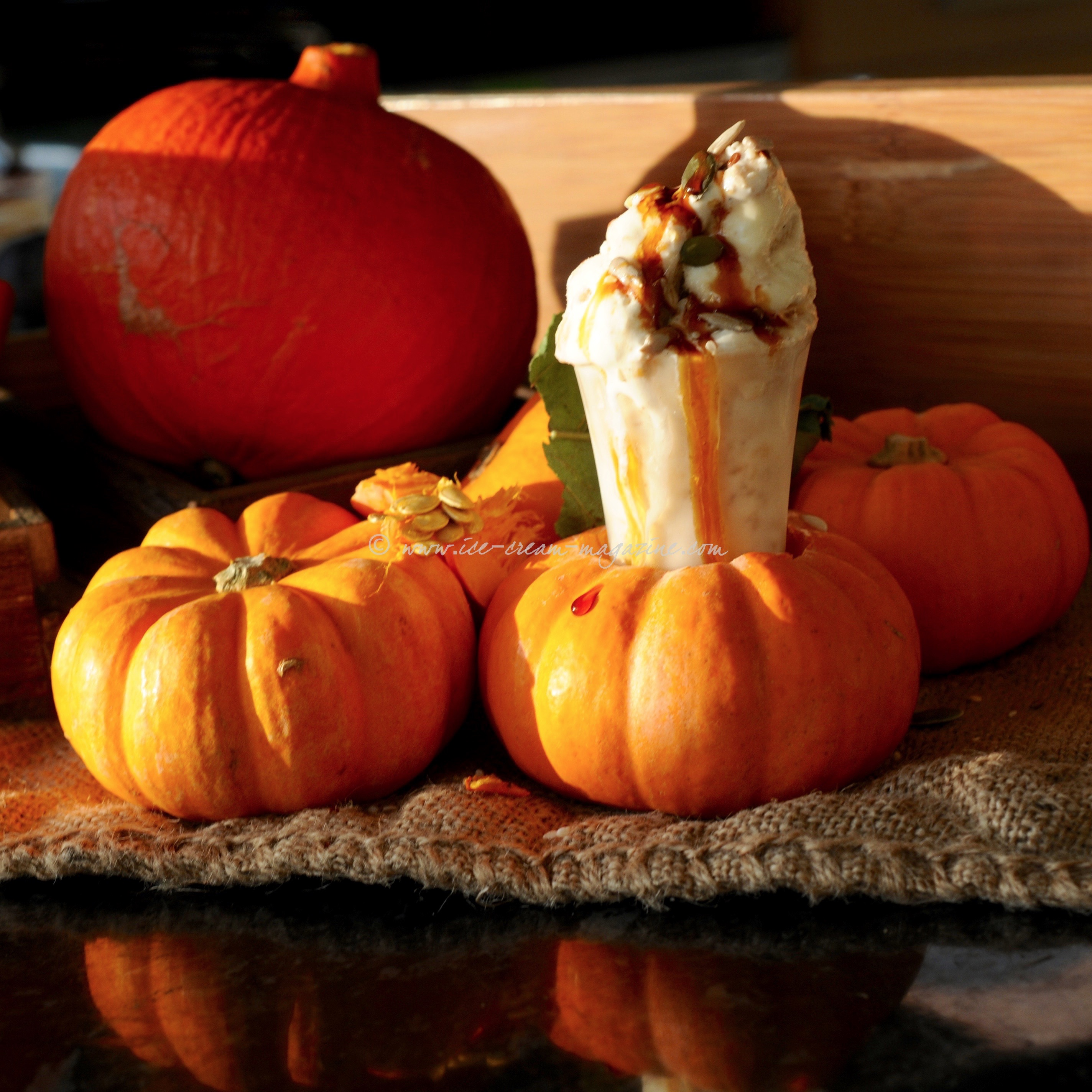 Menu & Pimped pumpkin ice cream shots | ice cream magazine